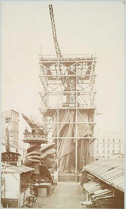 Редкие снимки, сделанные во время строительства статуи Свободы (11 шт)