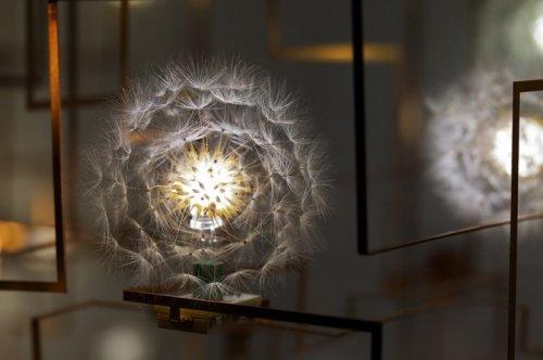 Люстры и светильники из одуванчиков