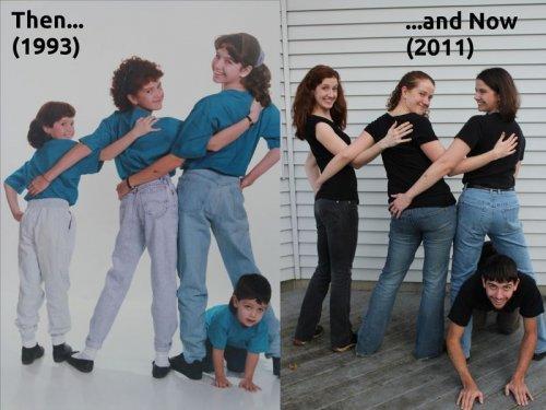 Фотографии из серии тогда и сейчас (21 шт)