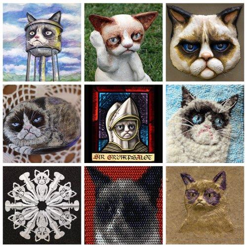 Художественные произведения, вдохновлённые Grumpy Cat (15 фото)