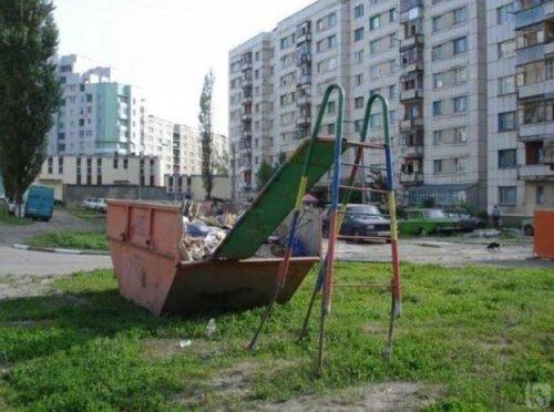 Суровые детские горки (11 фото)