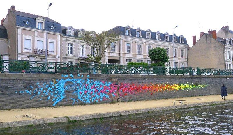 Оригами стрит-арт на улицах города Анже (8 фото)