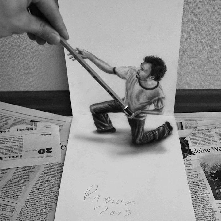 как нарисовать объемные рисунки из фото