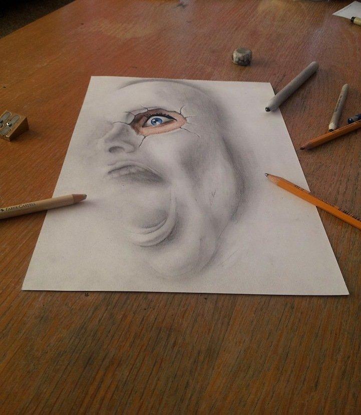 Объёмные картинки рисовать