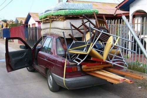 Автомобили и негабаритный груз (23 фото)