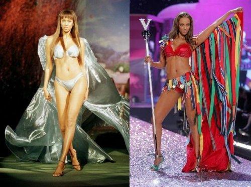 Супермодели в начале и в конце своей карьеры в Victoria's Secret (17 фото)