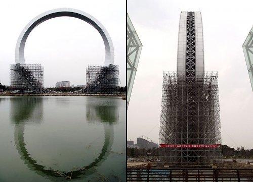 В Китае строится одно из самых высоких в мире колёс обозрения (8 фото)