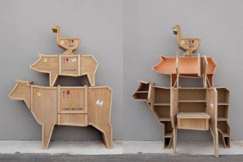 Оригинальные предметы мебели в виде животных (4 фото)