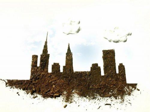Необычные работы Сары Росадо, созданные из грязи (14 фото)