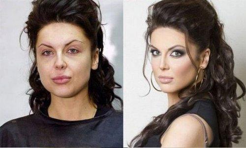 Женщины до и после нанесения макияжа (12 фото)
