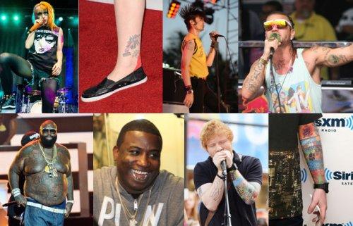 Необычные татуировки музыкантов