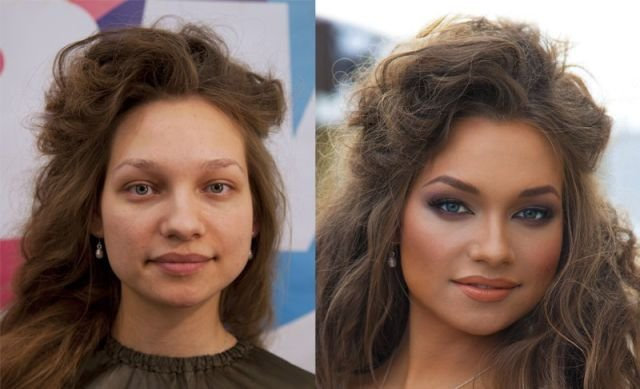 фото чудеса макияжа до и после