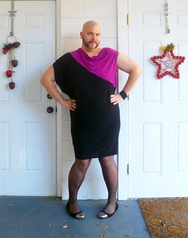 мужчина в платье картинки решила