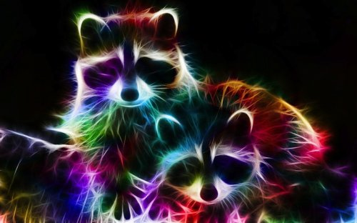Светящиеся портреты животных (23 фото)