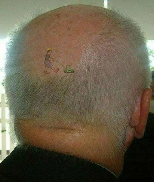 Татуировки на голове (33 фото)