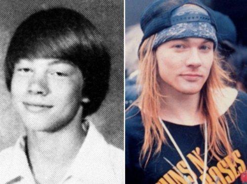 Фотографии знаменитостей из школьных альбомов