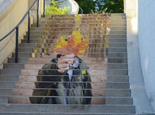 Лестничный стрит-арт (22 фото)