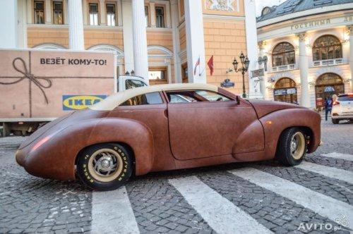 Продаётся единственный в своём роде автомобиль, полностью покрытый кожей канадского бизона
