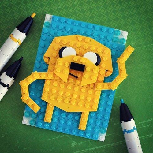 Известные персонажи в Lego-портретах Крисах Маквея (10 фото)