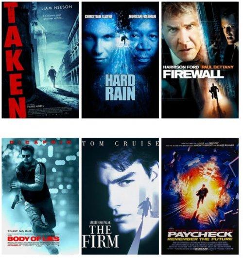 Постеры к фильмам, сделанные по шаблонам (14 фото)