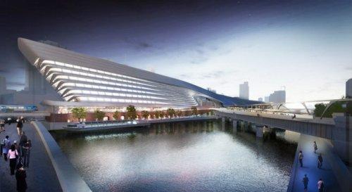 Проект вокзала в Мельбурне в футуристическом стиле (8 фото + видео)