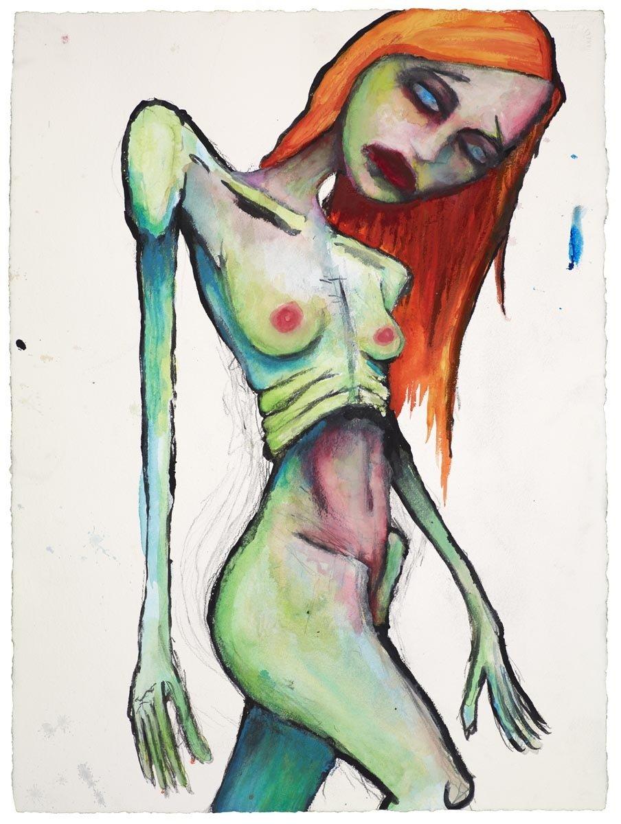 Рисунок живопись мэрилин мэнсон 3