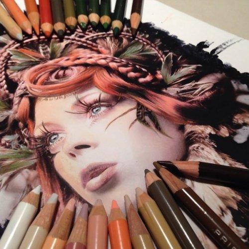 Невероятно реалистичные рисунки, созданные цветными карандашами (21 фото)