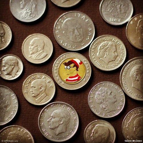 Преображённые монеты разных стран в проекте Андре Леви (20 фото)