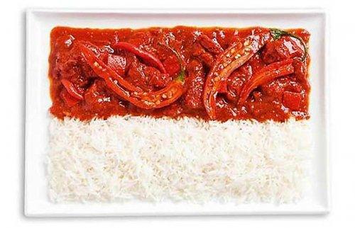 Национальные флаги из национальной еды (18 фото)