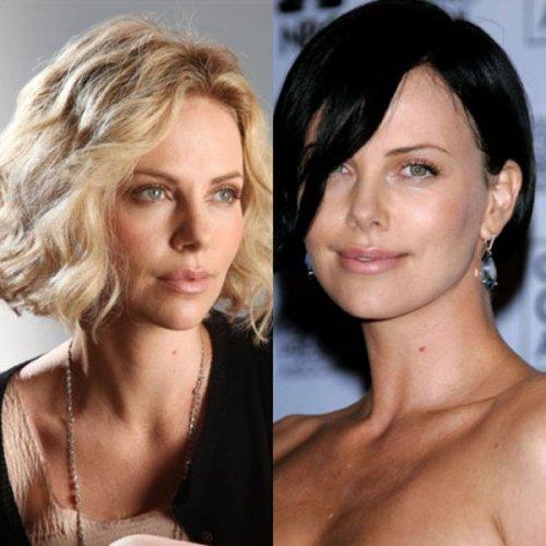 Преображение знаменитостей: блондинки vs брюнетки (31 фото)