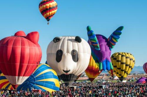 Яркие краски фестиваля воздушных шаров в Альбукерке (20 фото)