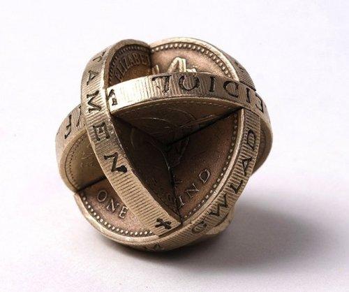 Скульптуры из монет от Роберта Векслера (14 фото)