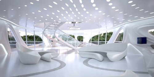 Концепт 128-метровой суперъяхты от архитектора Захи Хадид (10 фото)