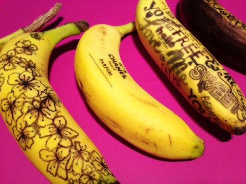Граффити на бананах от Марты Гросси (13 фото)