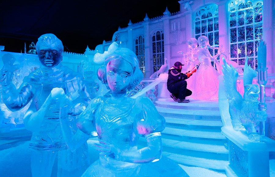 ледовые скульптуры фото герои сказок заметили, что мимика
