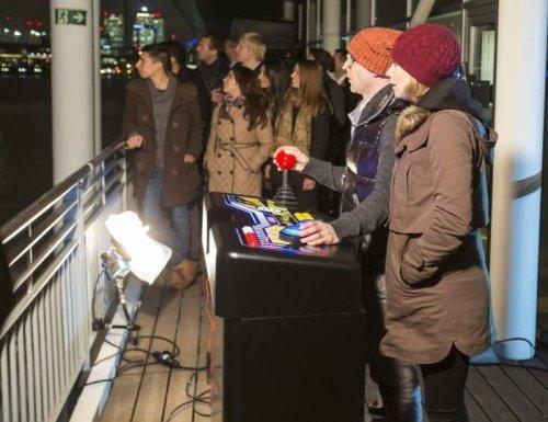 Гигантская игра Pacman в Лондоне (5 фото)