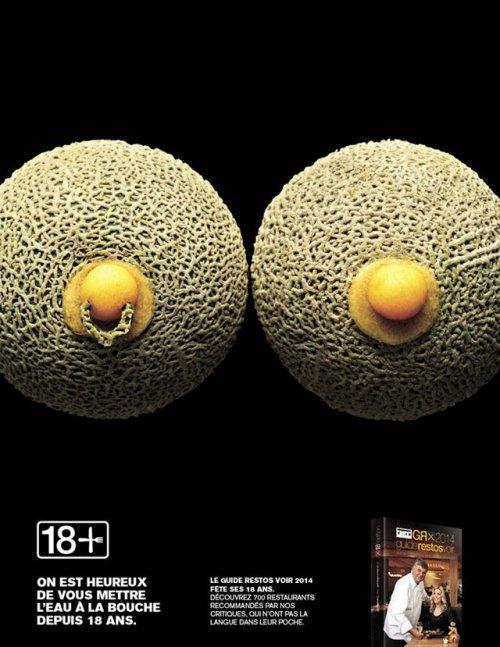 Рекламная кампания ресторанного гида в стиле foodporn (5 фото)