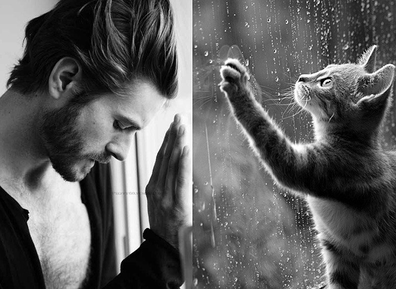 русское мужик с котенком картинка вот опять хочу