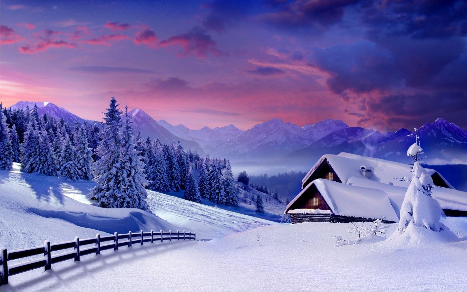 пейзажи фото зимние