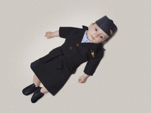 3-месячная малышка в фотосессии своего креативного папы (13 фото)