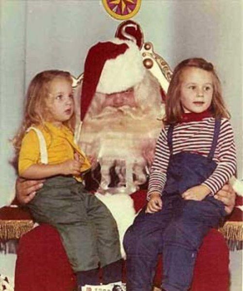 Жуткие и страшные Санта-Клаусы из прошлого (20 фото)