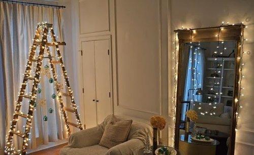 Новогодние ёлки и декорации своими руками (50 фото)
