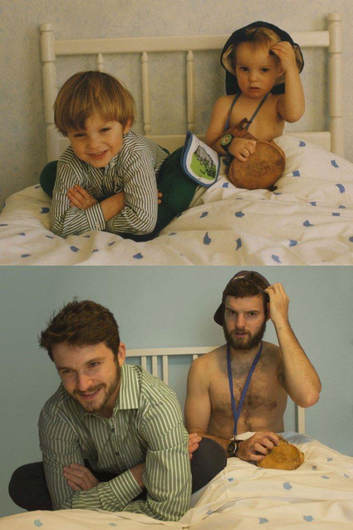 Оригинальное фото детей и родителей