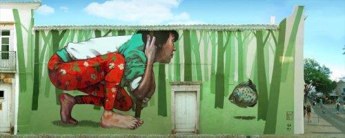 Сюрреалистический стрит-арт польского дуэта Etam Cru (14 фото)