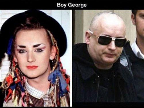 Как знаменитости изменились со временем (26 фото)