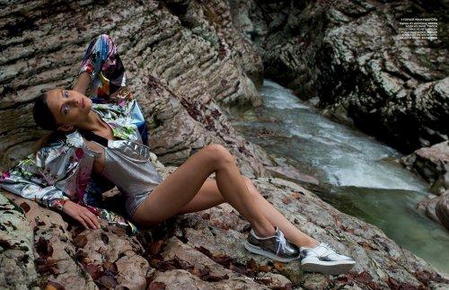 Анна Селезнёва в журнале Vogue Russia (февраль 2014) (15 фото)