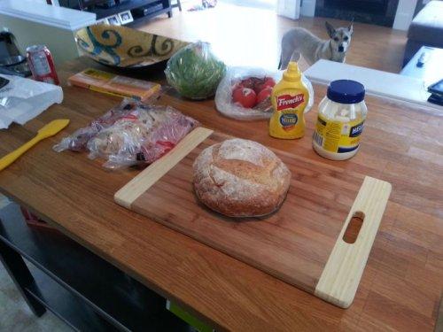 Мужской способ приготовления сэндвича (18 фото)
