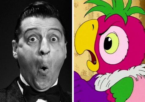 Персонажи мультфильмов, похожие на озвучивших их актёров (21 фото)