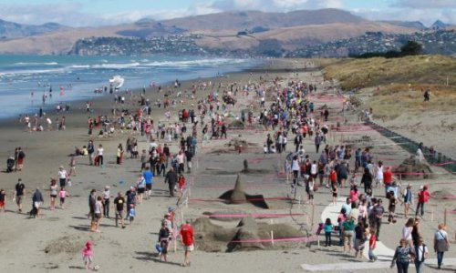 Песочные скульптуры на 3rd New Zealand Sandcastle Competition 2014 (17 фото)