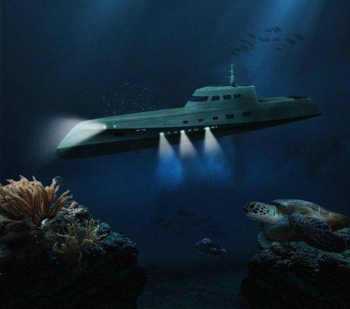 Подводный мини-отель для романтиков (6 фото)